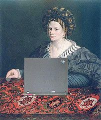 Creative-commons images of women in art as bloggers!