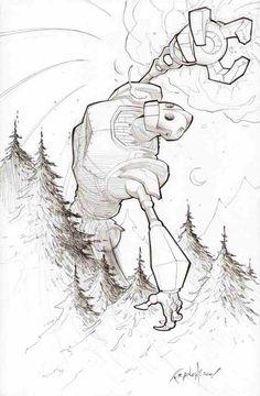 Iron Giant by Franchesco via Ultimate Iron Giant.