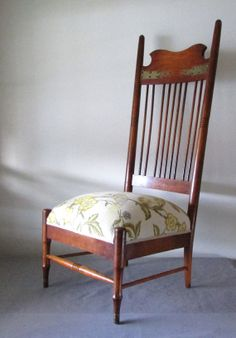 Antique Highback Chair with Turtledoves by Rekindle Home, $395.00