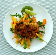 Blackened Cod with Mango Salad. Fresh, delicious and easy to prepare!