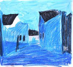 Paisaje 36-2003 Fuente Obejuna Dibujo Técnica por PINACOTHECULA