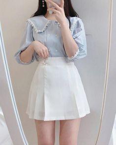 Korean Girl Fashion, Korean Fashion Trends, Ulzzang Fashion, Korean Street Fashion, Kpop Fashion, Kawaii Fashion, Japanese Fashion, Cute Fashion, Fashion Outfits