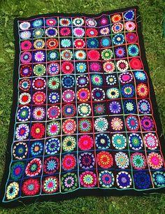 vibrant crochet blanket. by thespannerworks on Etsy, £191.01
