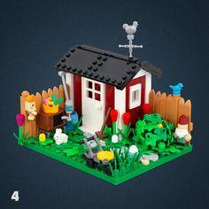 04 - Garden Legos, Lego Humor, Lego Friends Sets, Lego Creative, Lego Furniture, Architecture Design, Micro Lego, Lego Pictures, Lego Modular