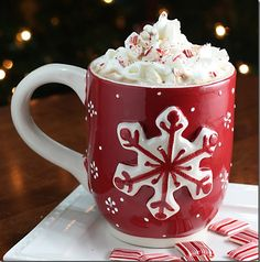 Mmm Mmm Peppermint Mocha   Ingredients: 1 cup milk, steamed 1 cup very strong coffee (4 tablespoons coffee grounds to 1 cup of hot water, I prepared this in my French Press, but you can brew a strong drip pot if you prefer) 1 tablespoon cocoa p