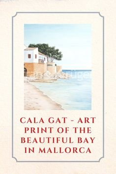 The beautiful Cala Gat in the northeast of Mallorca is no longer an insider tip - but it is definitely still a place that you should visit. And if that just doesn't work, this art print is a great alternative! #mallorca #artprint #calagat Bull Painting, Mallorca Island, Majorca, Beautiful Islands, Fishing Boats, Art Gallery, Alternative, Waves, Art Prints