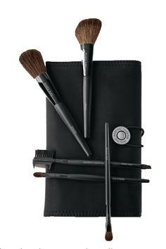 Makeup Brush Set Includes Eye Crease Brush, Eye Definer Brush, Eyeliner/Eye Brow Brush, Cheek Brush, Powder Brush, & Case for $48