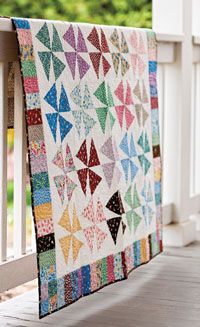 Here's a modern twist to an old favorite, designed by Nancy Mahoney.  Make the quilt top quickly and in your favorite fabrics.