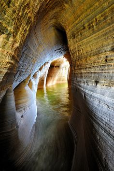 Miner's Castle Cave ~ Pictured Rocks National Lakeshore, Munising, Michigan, United States.