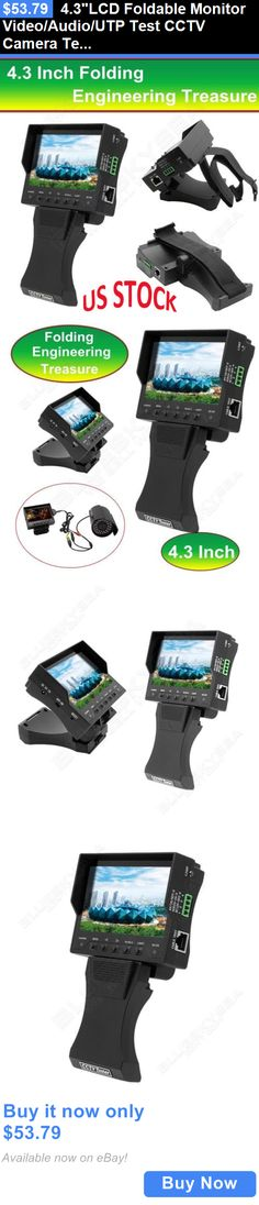 Surveillance Monitors Displays: 4.3Lcd Foldable Monitor Video/Audio/Utp Test Cctv Camera Tester Dc 12V Output BUY IT NOW ONLY: $53.79