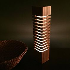 Handmade, Wooden LED Light Sculpture Color: Early American Fully dimmable