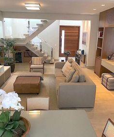 Elegant contemporary living room decor and makeover Home Living Room, Living Room Designs, Living Room Decor, Bedroom Decor, Home Decor Furniture, Modern House Design, Home Interior Design, Nordic Interior, Interior Plants
