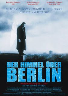 Der Himmel uber Berlin/Wings of Desire. Cast: Bruno Ganz, Solveig Dommartin, Otto Sander, Curt Bois and Peter Falk. Peter Falk, Peter Handke, 80s Movie Posters, Cinema Posters, Classic 80s Movies, Great Movies, See Movie, Movie Tv, Wim Wenders Film