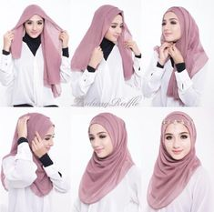 Tutorial Hijab Segi Empat Lebaran Untuk Remaja