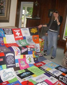 T Shirt Quilt.  One day I'll make my Meredith quilt.