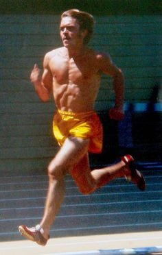 The amazing Mr. Steve Prefontaine running at Hayward Field, probably 1972. Perfection.
