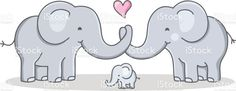 strong cohesive family / cartoon elephant - love royalty-free strong cohesive family cartoon elephant love stok vektör sanatı & fil - kalın derili'nin daha fazla görseli familie, vector drawing of a elephant family with baby elephant Cute Elephant Drawing, Elephant Artwork, Elephant Nursery, Elephant Drawings, Elephant Family Tattoo, Elephant Quotes, Mother And Baby Elephant, Cute Baby Elephant, Baby Elephants