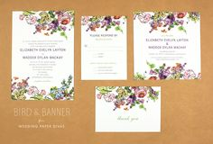 ridiculously fun and equally beautiful wedding invitations by Bird & Banner.