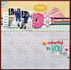 Layout by Stacey Michaud using my new collections