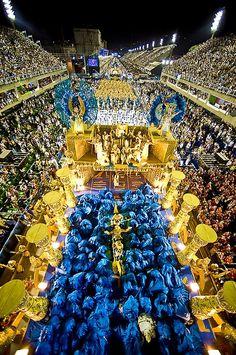 Samba Schools enchanting the public. Carnival, Rio de Janeiro