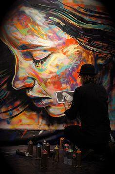 David Walker, Live painting, Artcurial, Paris 8e, Février 2014
