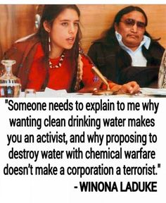 "Winona LaDuke (b. August 18, 1959) ""Winona LaDuke is an Anishinaabekwe (Ojibwe) enrolled member of the Mississippi Band Anishinaabeg who lives and works on the White Earth Reservations, and is the mother of three children. She is also the Executive Director of Honor the Earth, where she works on a national level to advocate, raise public support, and create funding for frontline native environmental groups. http://nativeharvest.com/winona_laduke #womenshistorymonth #whm"