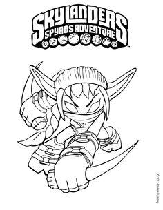 Skylanders coloring pages