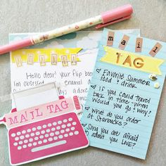 100 mail tag questions!