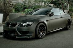 Flat black BMW
