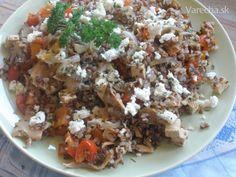 Pohánkové vegetariánske rizoto - Recept Tofu, Grains, Rice, Beef, Red Peppers, Meat, Seeds, Laughter, Jim Rice