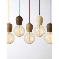 Wood Handmade Pendant Light Chandelier Edison Restoration Industrial style Fabric cables wooden