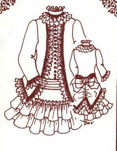 "15 16""Antique French BRU Jumeau German Child Doll LOW Waist Dress Jacket Pattern | eBay"