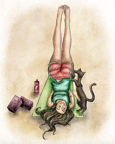 Cats don't want you to do yoga alone! (3 in series of 3) #yogaeveryday #yogapractice #yogalover #yogaaddict #yogafun #yoga #yogafun #yogacamp #yogafest #yogagirl #yogapants #yogainspiration #yogalove #yogapose #yogachallenge #yogaeverywhere #yogalife #draw #illustration #disney #disneystyle #cat #cats #catlover #yogi by emilyrcarrier