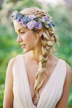 18 Braided Wedding Hair Ideas You Will Love ❤ From soft waves to gorgeous updos and ponytails, brides have so many hairstyles to consider. See our gallery of braided wedding hair ideas for inspiration! See more: http://www.weddingforward.com/braided-wedding-hair/ #weddings #hairstyles