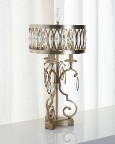 H8PX4 John-Richard Collection Marquise Crystal Table Lamp