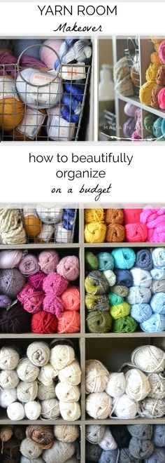 55 Trendy Home Office On A Budget Organizers Craft Rooms Yarn Storage, Craft Room Storage, Storage Ideas, Craft Rooms, Crochet Storage, Fabric Storage, Crochet Organizer, Ribbon Storage, Kitchen Storage