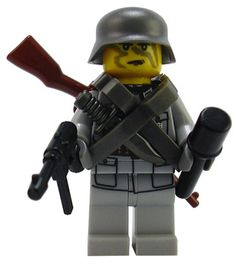 Custom Lego Military Soldier Minifigure Model Soldiers German 5th Mountain Division Paratrooper Commander w/Parachute Harness
