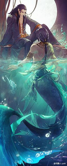 Merman possibly brothers and one decided to live on land instead of water. Magical Creatures, Fantasy Creatures, Sea Creatures, Fantasy World, Fantasy Art, Character Inspiration, Character Art, Mermaid Man, Mermaids And Mermen