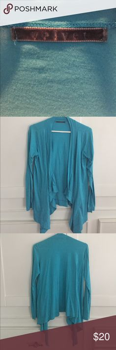Velvet brand turquoise tshirt throw over Super comfy, velvet Brand turquoise throw over. Long sleeved, light weight .his along the sacrum area on back and front drapes a bit down. Perfect for post yoga or around the house. Velvet by Graham & Spencer Jackets & Coats Capes