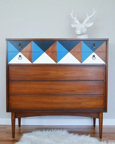 Midcentury Dresser Makeover - Midcentury Furniture Before and After - House Beautiful