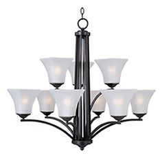 Pyramid Creations�9-Light Aurora Oil-Rubbed Bronze Chandelier