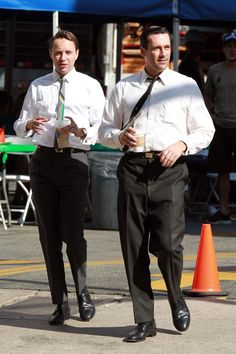 out of context.  Pete and Don with...Starbucks?