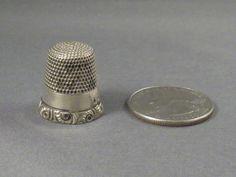 Antique Sterling Silver Thimble Simons Bros. Hallmark S in Shield. $25.00, via Etsy.