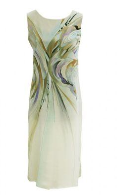 Платье модерн PL-01 Hand Painted Dress, Painted Clothes, Dress Painting, Fabric Painting, Textile Prints, Textiles, Silk Art, Indian Designer Wear, Beach Dresses
