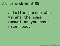 haha uh yeah..i weigh in between 110 and 115 atm..it fluctuates...but i feel like i weigh 200 lbs, i know girls who weigh like 140 and look TINY...being 5' tall with a short torso and long legs is tough..every pound squeezes itself into my stomach or arms