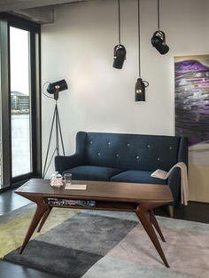 Design Mobel Wohnzimmer kleines wohnzimmer design mit eleganten mbel in wei Le Klint Carronade Stehleuchte Lampe Leuchte Design Industrial Beleuchtung Wohnen