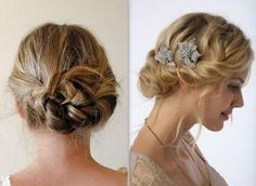 Simply elegant and unique updo