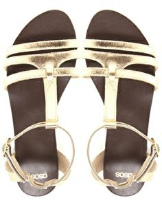 Image 2 of ASOS FLORENCE Leather Flat Sandals