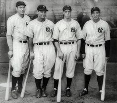 Dickey, Gehrig, DiMaggio and Lazzeri.