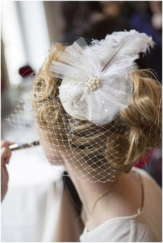 hollywood glamour headpiece #wedding #accessories